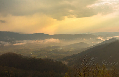Rain Shower at Sunset over Cades Cove. taken from the Missing Link. April 2019