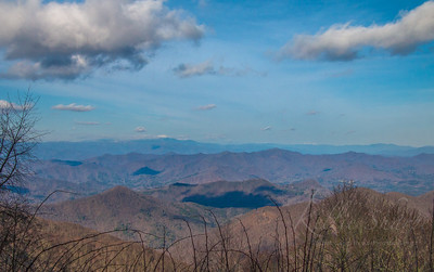 Looking at the Smokies from the Nantahala National Forest. April 2019