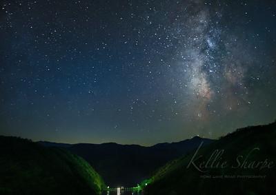The Milky Way over Calderwood Dam