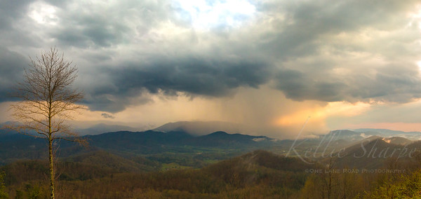 Rain Storm on Rich Mountain, Townsend, Tennessee