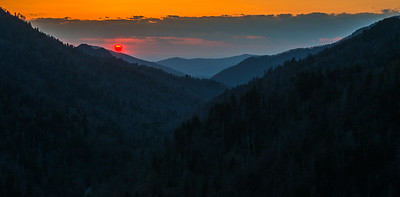 Smoky Mountain Sunset for the first night without rain.