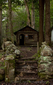 Ghost Town at Elkmont Campsite.  The Great Smoky Mountains.  North Carolina and Tennessee. United States