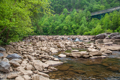 Ocoee River, Tennessee, with flume that carries water from the dam to the power plant.
