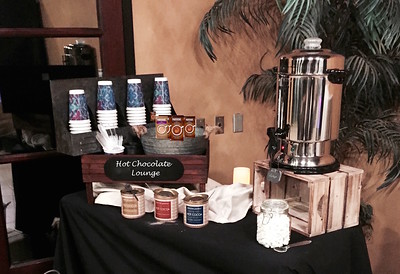 Add a Hot Chocolate Station  to any S'more Bar and/or Photo Booth