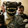 "01/09/2013:<br /> One of the characters in the web series / comic ""Shark Bites,"" being operated by two puppeteers."