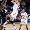 01/05/2013:<br /> Cassie Harberts (Junior, USC Women of Troy) pulls back for a jump shot against Vanderbilt in their last game of 2012.  In yesterday's win over Oregon State, Cassie was the leading scorer for the Women of Troy with 27 points.