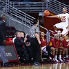 01/02/2013:<br /> Brianna Barrett of the Women of Troy saves a ball from going out of bounds in the game vs Vanderbilt.