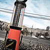 01/15/2013:<br /> An photo from a while ago, but I do love this photo.  An old gas pump in front of a diner in Twenty Nine Palms.