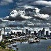 """01/08/2013:<br /> """"Port of Seattle""""<br /> The Alaska cruise left from a port in Seattle, WA.  It was a perfect balance of sun and clouds that day.  This photo is going up today, because tomorrow I will post a slew of photos of Seattle."""