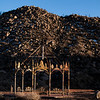 01/23/2013:<br /> A rust covered gazebo in the high desert.  I love the bit of snow on the hill and hwo the gazebo almost blends in with the natural surrounding, but is differentiated by the light and shadow.