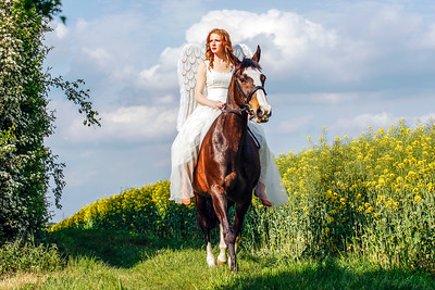 Angel on Horseback