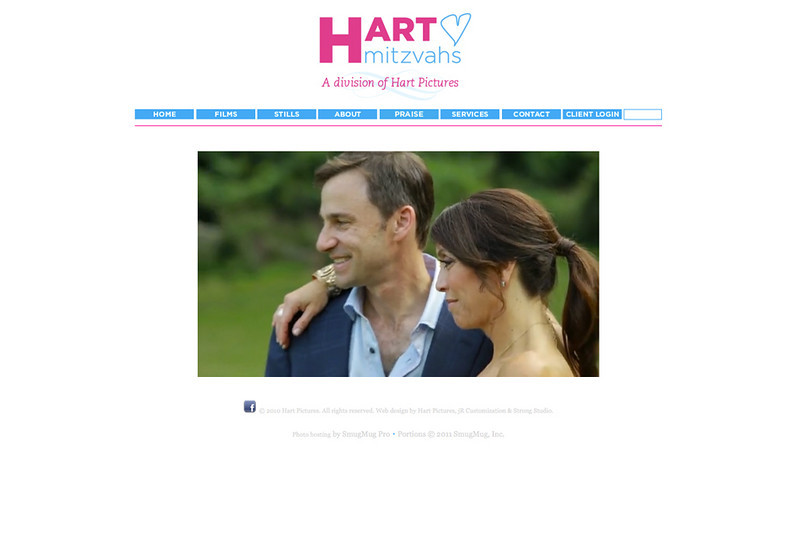 """Hart Mitzvahs  – Manhattan, New York photographer specializes in unique, mitzvah film and photography!  <br><br> SmugMug Customization  - By jR Customization   <p class=""""ContentText""""> <br><br> - Web site is at <a href=""""http://www.hartmitzvahs.com/"""" target=""""_blank"""" onClick=""""javascript: pageTracker._trackPageview('/outgoing/http://www.hartmitzvahs.com/');"""">Hart Mitzvahs</a><br> - Entire Web Site Hosted via Smugmug<br>  </p>"""