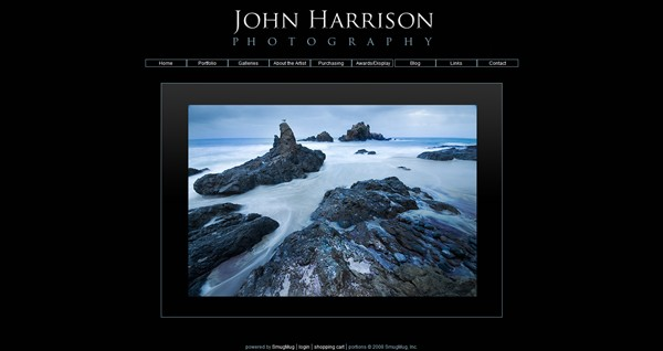 """<p class=""""ContentSubHeader""""> <a href=""""http://www.jharrisonphoto.com"""" target=""""_blank""""  onClick=""""javascript: pageTracker._trackPageview('/outgoing/jharrisonphoto.com/');"""">John Harrison Photography</a> </p> <p class=""""ContentText""""> - Specializes in Fine Art Nature and Landscape Photography<br> - Sunnyvale San Francisco Bay Area California Photographer<br> - Web site is at <a href=""""http://www.jharrisonphoto.com/"""" target=""""_blank"""" onClick=""""javascript: pageTracker._trackPageview('/outgoing/jharrisonphoto.com/');"""">www.jharrisonphoto.com</a><br> - Entire Web Site Hosted via Smugmug<br> - Graphics Design by <a href=""""http://www.louisianamoments.com/"""" target=""""_blank"""" onClick=""""javascript: pageTracker._trackPageview('/outgoing/louisianamoments.com/');""""> Moments Photography</a> </p>"""