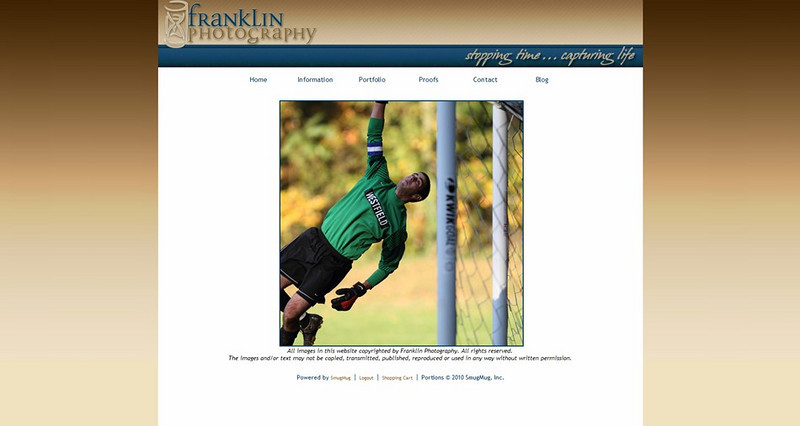 "<p class=""ContentSubHeader""> <a href=""http://www.franklin-photo.com/"" target=""_blank""  onClick=""javascript: pageTracker._trackPageview('/outgoing/franklin-photo.com/');"">Franklin Photography</a> </p> <p class=""ContentText""> - Specializes in Sports, Events and Landscape/Nature Photography<br> - New Jersey Photographers<br> - Web site is at <a href=""http://www.franklin-photo.com/"" target=""_blank"" onClick=""javascript: pageTracker._trackPageview('/outgoing/franklin-photo.com/');"">www.franklin-photo.com</a><br> - Entire Web Site Hosted via Smugmug<br> </p>"