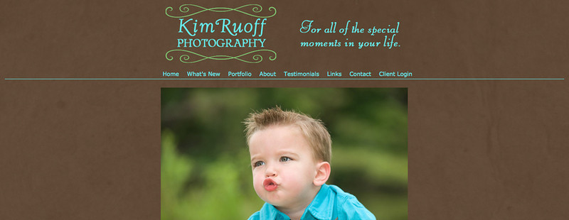 "Kim Ruoff Photography  – Florida area photographer specializes in family, children, weddings, and more! <br><br> SmugMug Customization - By jR Customization   <p class=""ContentText""> <br><br> - Web site is at <a href= ""http://www.kimruoff.com/"" target=""_blank"" onClick=""javascript: pageTracker._trackPageview('/outgoing/  http://www.kimruoff.com/ ');""> Kim Ruoff Photography</a><br> - Entire Web Site Hosted via Smugmug<br>  </p>"