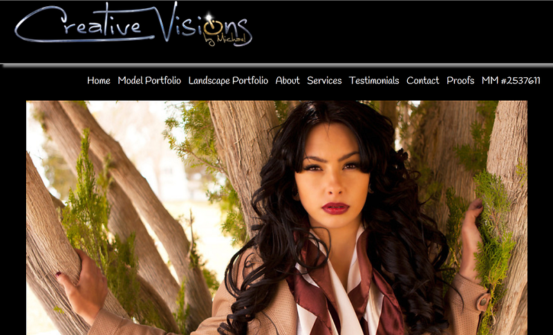 "<p class=""ContentText""> Creative Visions by Michael – Las Vegas photographer specializes in modeling and landscape photography <br><br> SmugMug Customization - By jR Customization </p>  <p class=""ContentSubHeader""> <a href="" http://www.creativevisionsbymichael.com/"" target=""_blank"" onClick=""javascript: pageTracker._trackPageview('/outgoing/ http://www.creativevisionsbymichael.com/);"">Creative Visions by Michael</a> </p>  <p class=""ContentText""> - Las Vegas photographer<br> - Specializes in modeling and landscape photography<br> - Web site is at <a href="" http://www.creativevisionsbymichael.com/"" target=""_blank"" onClick=""javascript: pageTracker._trackPageview('/outgoing/ http://www.creativevisionsbymichael.com/);"">Creative Visions by Michael</a><br> - Entire Web Site Hosted via Smugmug<br>  </p>  </p>"
