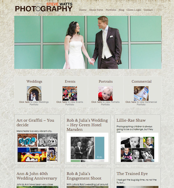 """Steve Watts Photography from the United Kingdom<br /> Specializes in Wedding Photography, Portrait Photography, Event Photography, Commercial Photography<br /> <br /> Web Site can be found at : <a href=""""http://www.stevewattsphotography.com"""">http://www.stevewattsphotography.com</a><br /> SmugMug and Wordpress Customization by jR Customization"""