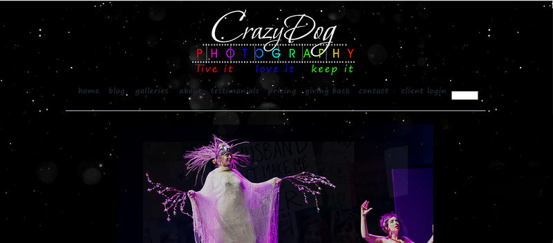 "Crazy Dog Photography  – Photographer specializes in weddings, events, parades and more! <br><br> SmugMug Customization & WordPress Integration- By jR Customization   <p class=""ContentText""> <br><br> - Web site is at <a href= ""http://crazydogphotography.smugmug.com/"" target=""_blank"" onClick=""javascript: pageTracker._trackPageview('/outgoing/  http://crazydogphotography.smugmug.com/');"">crazydogphotography.com</a><br> - Entire Web Site Hosted via Smugmug<br>  </p>"