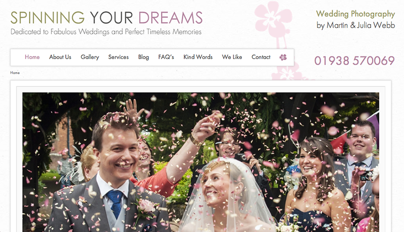 """Spinning Your Dreams from England<br /> Specializes in Wedding Photography<br /> Web Site can be found at : <a href=""""http://spinningyourdreams.smugmug.com/"""">http://spinningyourdreams.smugmug.com/</a><br /> SmugMug Customization by jR Customization"""