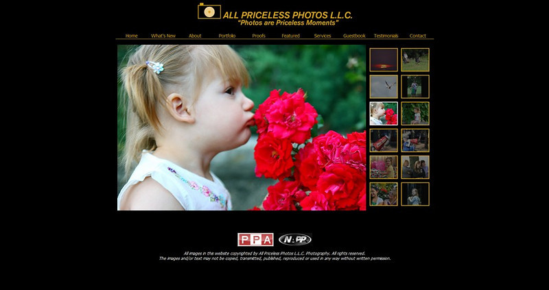"""<p class=""""ContentSubHeader""""> <a href=""""http://www.allpricelessphotos.com"""" target=""""_blank"""" onClick=""""javascript: pageTracker._trackPageview('/outgoing/allpricelessphotos.com');"""">All Priceless Photos </a> </p> <p class=""""ContentText""""> - Muskego Wisconsin Photographer<br> - Specializes in Wedding, Events and Portrait Photography<br> - web site is at <a href=""""http://www.allpricelessphotos.com"""" target=""""_blank"""" onClick=""""javascript: pageTracker._trackPageview('/outgoing/allpricelessphotos.com');"""">www.allpricelessphotos.com</a><br> - Entire Web Site Hosted via Smugmug<br> </p>"""