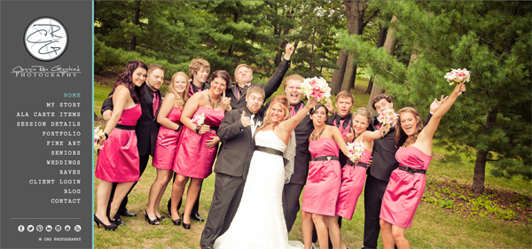 """CRG Photography from Wisconsin<br /> Specializes in Wedding Photography,Portrait Photography,Senior Photography,<br /> Web Site can be found at : <a href=""""http://crgigstead.com/"""">http://crgigstead.com/</a><br /> SmugMug Customization Wordpress Theme, by jR Customization"""