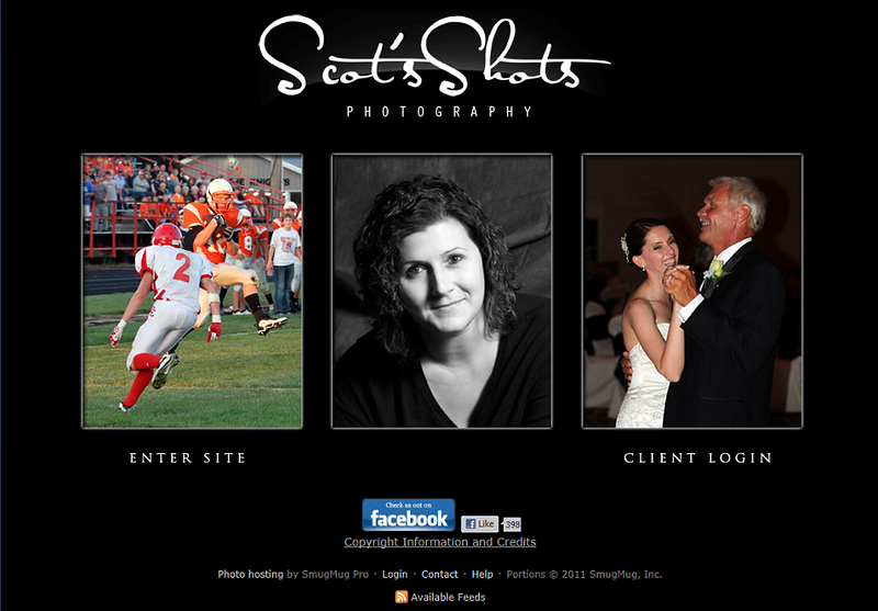"<p class=""ContentText""> Scot's Shots Photography - Photographer specializes in portrait, wedding, sports and event photography<br><br> SmugMug Customization and WordPress Integration -  By jR Customization </p>  <p class=""ContentSubHeader""> <a href=""http://www.scotsshots.com/"" target=""_blank"" onClick=""javascript: pageTracker._trackPageview('/outgoing/http://www.scotsshots.com/);"">Scot's Shots Photography</a> </p>  <p class=""ContentText""> - Specializes in portrait, wedding, sports and event photography<br> - Web site is at <a href=""http://www.scotsshots.com/"" target=""_blank"" onClick=""javascript: pageTracker._trackPageview('/outgoing/http://www.scotsshots.com/);"">Scot's Shots Photography</a><br> - Entire Web Site Hosted via Smugmug<br>  </p>  </p>"