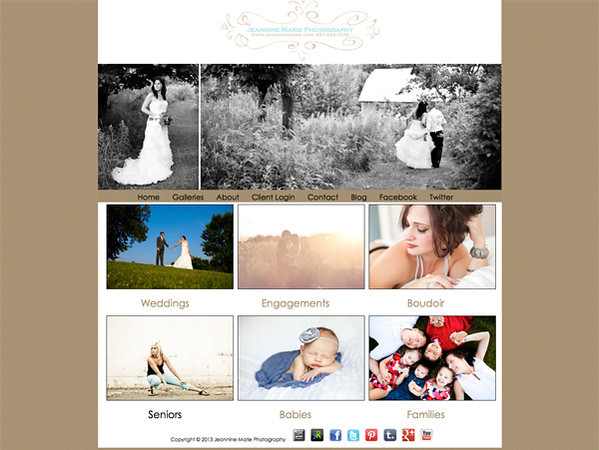 """Jeannine Marie Photography from Minnesota<br /> Specializes in Wedding Photography,Boudoir Photography, Glamour Photography,Portrait Photography,Senior Photography,<br /> Web Site can be found at : <a href=""""http://www.jeanninemarie.com"""">http://www.jeanninemarie.com</a><br /> SmugMug Customization Wordpress Theme, by jR Customization"""