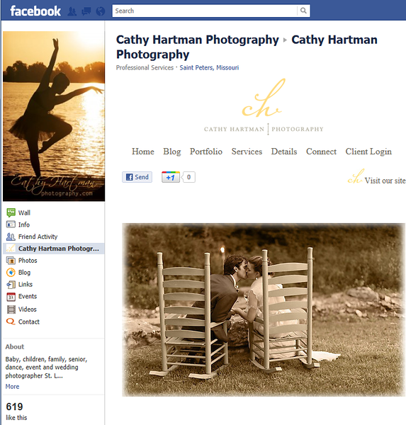 "<p class=""ContentText""> Cathy Hartman Photography – Missouri photographer specializes in children, portrait, senior, and wedding photography<br><br> SmugMug Customization - By jR Customization </p>  <p class=""ContentSubHeader""> <a href=""http://www.facebook.com/Cathy.Photography"" target=""_blank"" onClick=""javascript: pageTracker._trackPageview('/outgoing/ http://www.facebook.com/Cathy.Photography);"">Cathy Hartman Photography</a> </p>  <p class=""ContentText""> - Missouri photographer<br> - Specializes in children, portrait, senior, and wedding photography<br> - Web site is at <a href="" http://www.cathyhartmanphotography.com"" target=""_blank"" onClick=""javascript: pageTracker._trackPageview('/outgoing/ http://www.facebook.com/Cathy.Photography);"">Cathy Hartman Photography</a><br> - Entire Web Site Hosted via Smugmug<br> <br> - Facebook Fan Page  is at <a href=""http://www.facebook.com/#!/Cathy.Photography"" target=""_blank"" onClick=""javascript: pageTracker._trackPageview('/outgoing/http://www.facebook.com/#!/Cathy.Photography');"">Facebook Fan Page - Cathy Hartman Photography</a><br>  <br><br> </p>  </p>"
