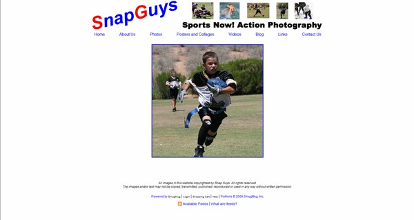 "<p class=""ContentSubHeader""> <a href=""http://www.snapguys.com/"" target=""_blank"" onClick=""javascript: pageTracker._trackPageview('/outgoing/snapguys.com');"">Snap Guys</a> </p> <p class=""ContentText""> - Apache Junction Arizona Sports photgrapher<br> - Specializes in Sports photography and video<br> - Web site is at <a href=""http://www.snapguys.com/"" target=""_blank""onClick=""javascript: pageTracker._trackPageview('/outgoing/snapguys.com');"">Snap Guys</a><br> - Entire Web Site Hosted via Smugmug  </p>"