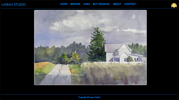 """Laseau Studio from Indiana<br /> Specializes in Paintings and Fine Art<br /> Web Site can be found at : <a href=""""http://laseaustudio.smugmug.com/"""">http://laseaustudio.smugmug.com/</a><br /> SmugMug Customization by jR Customization"""