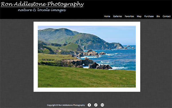 """Ron Addlestone Photography from Tennessee<br /> Specializes in Landscape Photography, Wildlife Photography, <br /> Web Site can be found at: <a href=""""http://www.ronaddlestone.com/"""">http://www.ronaddlestone.com/</a><br /> SmugMug Customization by jR Customization"""
