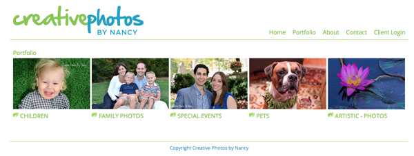 "Creative Photos by Nancy Photography from New York<br /> Specializes in Family, Children, Event and Pet Photography<br /> Web Site can be found at : <a href=""http://www.creativephotosbynancy.com/"">http://www.creativephotosbynancy.com/</a><br /> SmugMug Customization by jR Customization"