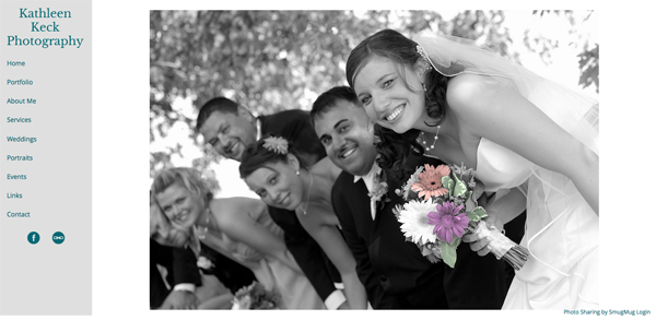 """Kathleen Keck Photography from upstate New York<br /> Specializes in Wedding Photography, Portrait Photography and Event Photography<br /> Web Site can be found at : <a href=""""http://www.kathleenkeckphotography.com/"""">http://www.kathleenkeckphotography.com/</a><br /> SmugMug Customization Wordpress Theme, by jR Customization"""