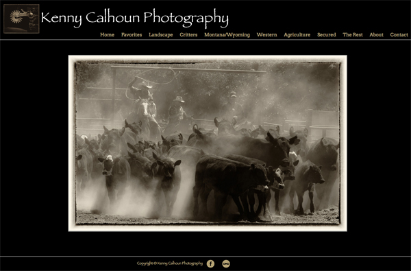 "Kenny Calhoun Photography <br /> Specializes in Landscape, Western and Animal Photography<br /> Web Site can be found at : <a href=""http://www.kennycalhounphotography.com/"">http://www.kennycalhounphotography.com/</a><br /> SmugMug Customization Wordpress Theme, by jR Customization"