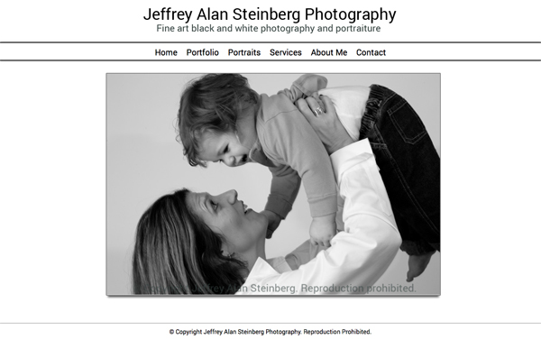 """Jeffrey Alan Steinberg Photography from Scarsdale New York<br /> Specializes in Black and White Portrait and Landscape Photography<br /> Web Site can be found at: <a href=""""http://www.jsteinbergphoto.com/"""">http://www.jsteinbergphoto.com/</a><br /> SmugMug Customization by jR Customization"""