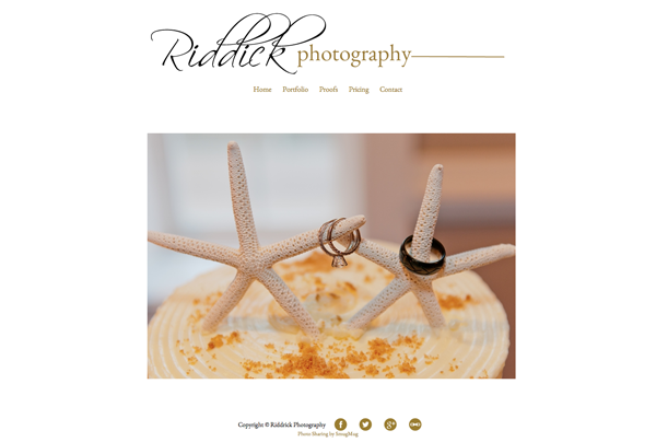 "Riddick Photography<br /> Specializes in Wedding Photography, Portrait Photography, Senior Photography<br /> Web Site can be found at : <a href=""http://www.riddickphotography.com/"">http://www.riddickphotography.com/</a><br /> SmugMug Customization by jR Customization"
