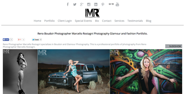 "Marcello Rostagni - Reno Nevada Photography<br /> Specializes in Portrait Photography, Wedding Photography, Boudoir Photography and Event Photography<br /> Web Site can be found at: <a href=""http://www.marcellorostagni.com/"">http://www.marcellorostagni.com/</a><br /> SmugMug Customization by jR Customization"