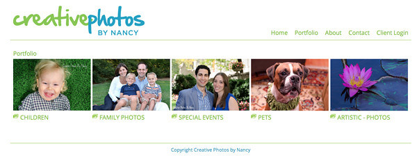 """Creative Photos by Nancy Photography from New York<br /> Specializes in Family, Children, Event and Pet Photography<br /> Web Site can be found at : <a href=""""http://www.creativephotosbynancy.com/"""">http://www.creativephotosbynancy.com/</a><br /> SmugMug Customization by jR Customization"""