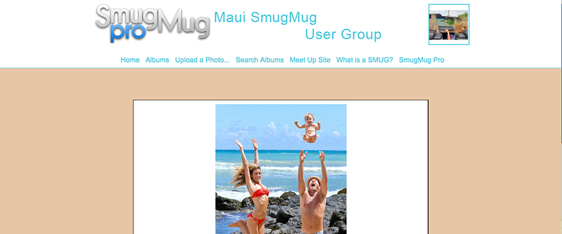 "Maui SmugMug User Group  - by jR Customization   <p class=""ContentText""> <br><br> - Web site is at <a href=""http://www.mauismug.smugmug.com"" target=""_blank"" onClick=""javascript: pageTracker._trackPageview('/outgoing/mauismug.smugmug.com');"">Maui SmugMug User Group</a><br> - Entire Web Site Hosted via Smugmug<br>  </p>"