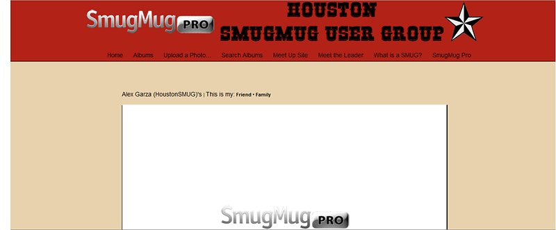 "Houston SmugMug User Group  - by jR Customization   <p class=""ContentText""> <br><br> - Web site is at <a href=""http://houstonsmug.smugmug.com/"" target=""_blank"" onClick=""javascript: pageTracker._trackPageview('/outgoing/houstonsmug.smugmug.com');"">Houston SmugMug User Group</a><br> - Entire Web Site Hosted via Smugmug<br>  </p>"
