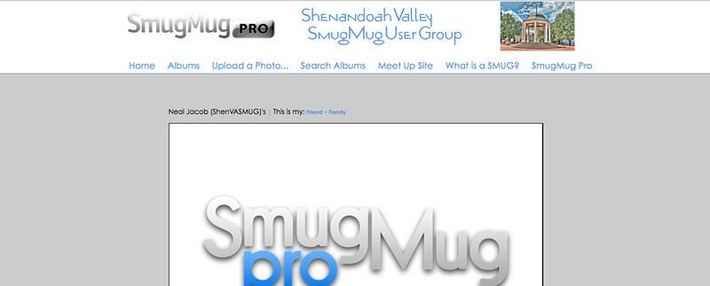 "Shenandoah Valley SmugMug User Group  - by jR Customization   <p class=""ContentText""> <br><br> - Web site is at <a href=""http://www.shenvasmug.smugmug.com"" target=""_blank"" onClick=""javascript: pageTracker._trackPageview('/outgoing/shenvasmug.smugmug.com');"">Shenandoah Valley SmugMug User Group</a><br> - Entire Web Site Hosted via Smugmug<br>  </p>"