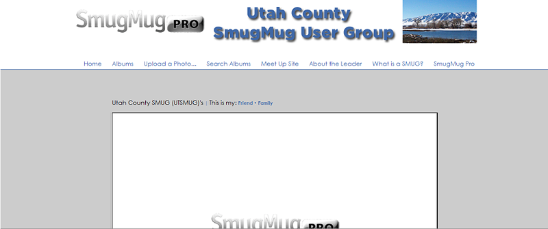 "Utah County SmugMug User Group  - by jR Customization   <p class=""ContentText""> <br><br> - Web site is at <a href=""http://utsmug.smugmug.com/"" target=""_blank"" onClick=""javascript: pageTracker._trackPageview('/outgoing/utsmug.smugmug.com');"">Utah County SmugMug User Group</a><br> - Entire Web Site Hosted via Smugmug<br>  </p>"
