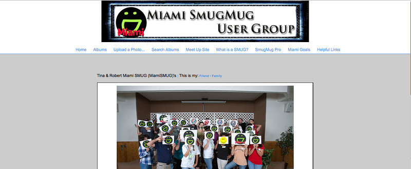 "<p class=""ContentSubHeader""> <a href=""http://www.miamismug.smugmug.com"" target=""_blank"" onClick=""javascript: pageTracker._trackPageview('/outgoing/www.miamismug.smugmug.com');"">Miami SmugMug User Group</a> </p> <p class=""ContentText""> - Miami, FL Photographers<br> - Web site is at <a href=""http://www.miamismug.smugmug.com"" target=""_blank"" onClick=""javascript: pageTracker._trackPageview('/outgoing/www.miamismug.smugmug.com');"">Miami SmugMug User Group</a><br> - Entire Web Site Hosted via Smugmug<br>  </p>"