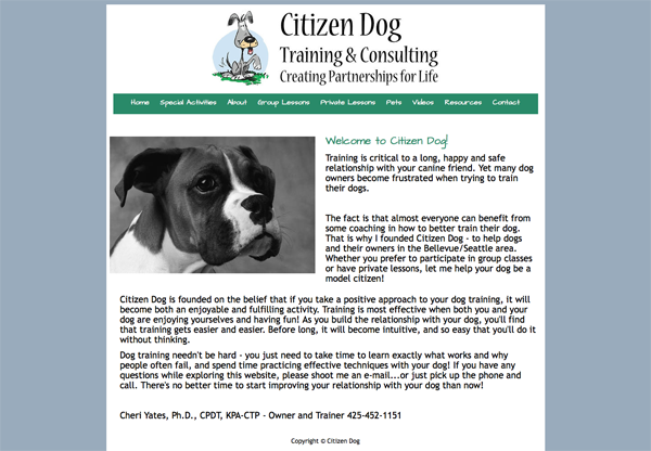 Citizen Dog Training of Seattle Washington
