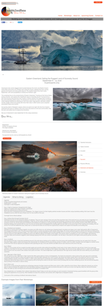 Page Design - Workshop Page