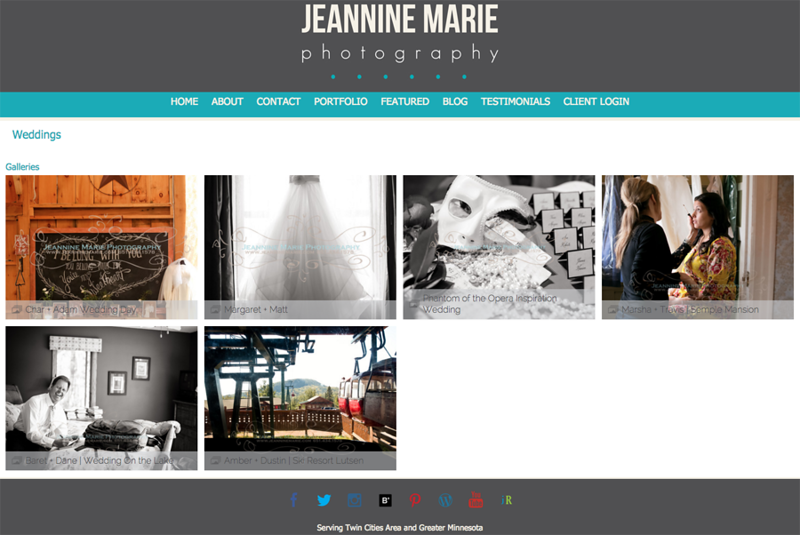 Portfolio - Featured Galleries (Example - Featured Weddings)