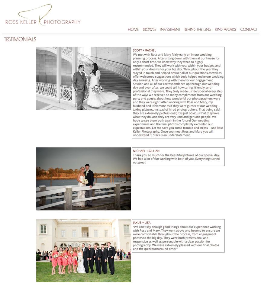 Testimonial Page - Double Column