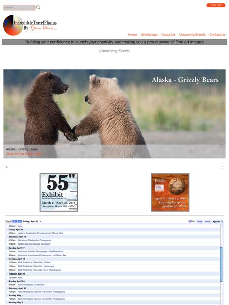 Page Design - Calendar/Event Page