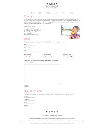 Page Design - Contact