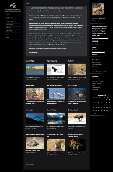"""Steve and Marian Uffman Nature and Travel Photography from Louisiana<br /> Specializes in Landscape Photography Wildlife Photography<br /> <br /> Web Site can be found at : <a href=""""http://uffmannatureimages.net/"""">http://uffmannatureimages.net/</a><br /> Wordpress Theme, by jR Customization"""